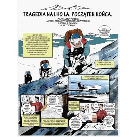 """Komiks """"Tragedia pod Lho La. Początek końca."""" Jerzy Porębski"""