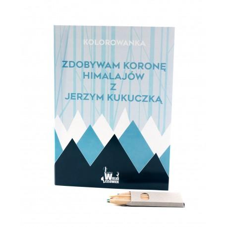 Zdobywam koronę himalajów z J.Kukuczką-kolorowanka